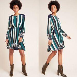 Anthropologie Striped Leger Dress